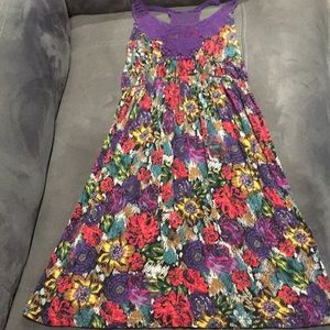 Delia's Dress Purple with Crochet Detail